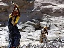 This old mothers from Dalit had to work breaking hard stones for their food!